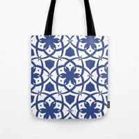 Pattern Print Edition 1 No. 1 (navy and white) Tote Bag