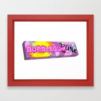 Bubblegum Punk Logo Framed Art Print