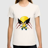 Chibi Wolverine Womens Fitted Tee Natural SMALL
