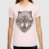 Day wolf Womens Fitted Tee Light Pink SMALL