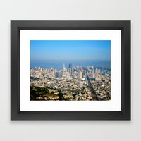Twin Peaks, San Francisc… Framed Art Print