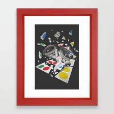 Twistin' Framed Art Print