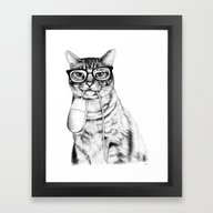 Mac Cat Framed Art Print