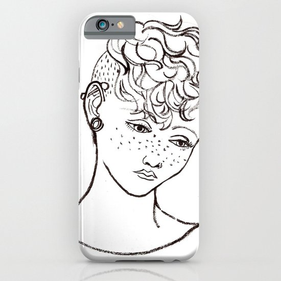 Young girl head iPhone & iPod Case