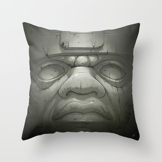 Olmeca I. Throw Pillow