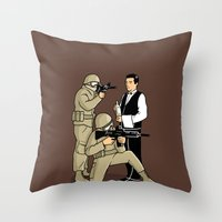 Serving in the Army Throw Pillow