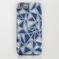 Abstract Outline Lines Navy  iPhone 6 Slim Case