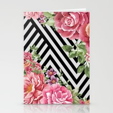 flowers geometric  Stationery Cards