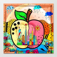 Big APPLE by Nico Bielow Canvas Print