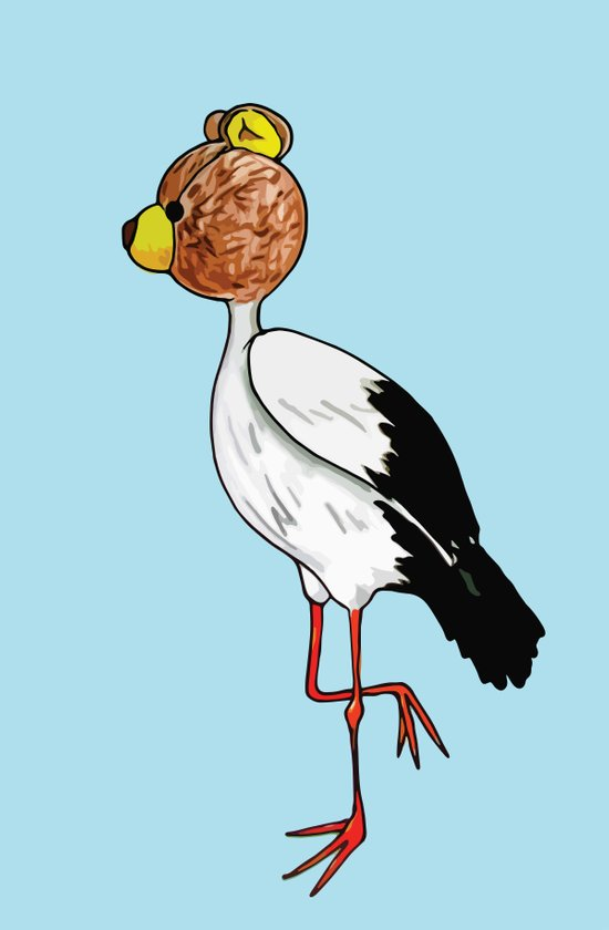 Teddy Stork Art Print