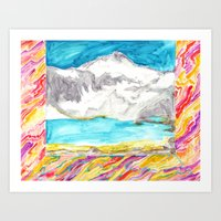 Room With The Mountain M… Art Print