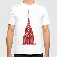 Chrysler Building Mens Fitted Tee White SMALL