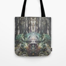 Forest Grid Tote Bag
