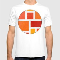 60's Mod Mens Fitted Tee White SMALL