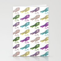 stereo birds Stationery Cards