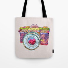 Floral Canon Tote Bag