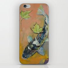 Koi with Japanese Maple Leaves iPhone & iPod Skin