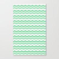 Green Waves Canvas Print