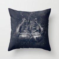 DARK GLOVES Throw Pillow