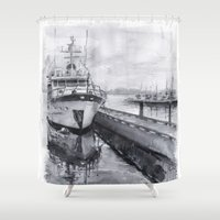 Kirkland Marina Waterfro… Shower Curtain