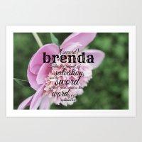 Brenda Scripture Art Print