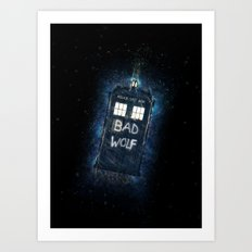 Bad Wolf TARDIS Art Print
