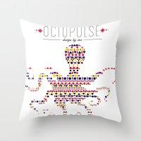 Octopulse | Design by sea Throw Pillow