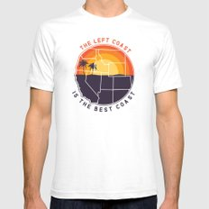 Left Coast is the Best Coast Mens Fitted Tee White SMALL