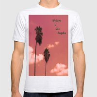 Welcome To Los Angeles Mens Fitted Tee Ash Grey SMALL