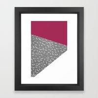 Concrete & Lines Framed Art Print