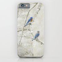Bluebirds in Spring iPhone 6 Slim Case
