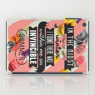 iPad Case featuring The Invincible Summer by Kavan And Co