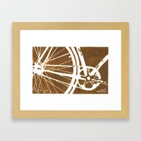 Brown Bike Framed Art Print