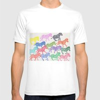 Rainbow Herd Mens Fitted Tee White SMALL