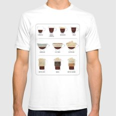 Coffee Lover Mens Fitted Tee White SMALL