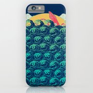 Squid On The Waves iPhone 6 Slim Case