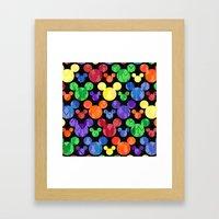 Mickey Mouse Rainbow Arr… Framed Art Print