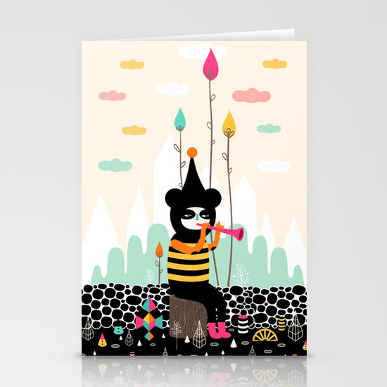 Home is where the happy creatures are! Stationery Card