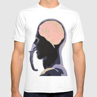 Hybrid Mens Fitted Tee White SMALL
