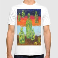 Untitled Abstract Still … Mens Fitted Tee White SMALL