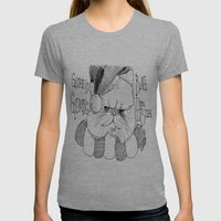 Bah Humbug Cat Womens Fitted Tee Athletic Grey SMALL