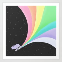 Capybara:  IN SPACE! Art Print