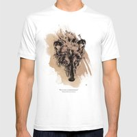 Solitude Is Independence Mens Fitted Tee White SMALL