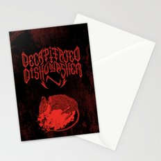 Decapitated by dishwasher III (red) Stationery Cards
