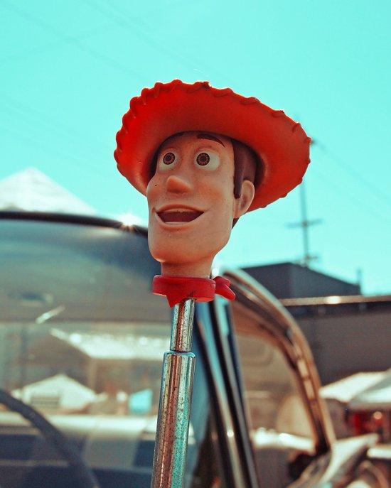 Woody rolls again! Art Print