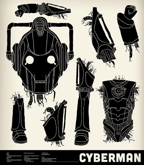 Decommissioned: Cyberman Art Print