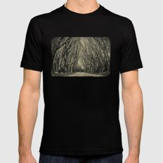 trees Mens Fitted Tee SMALL Black