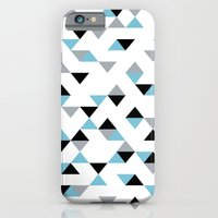 Triangles Ice Blue iPhone 6 Slim Case