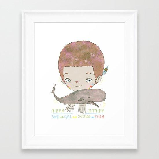 Extinction - SAVE SAFE Framed Art Print