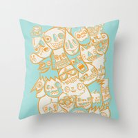 Faces II Throw Pillow